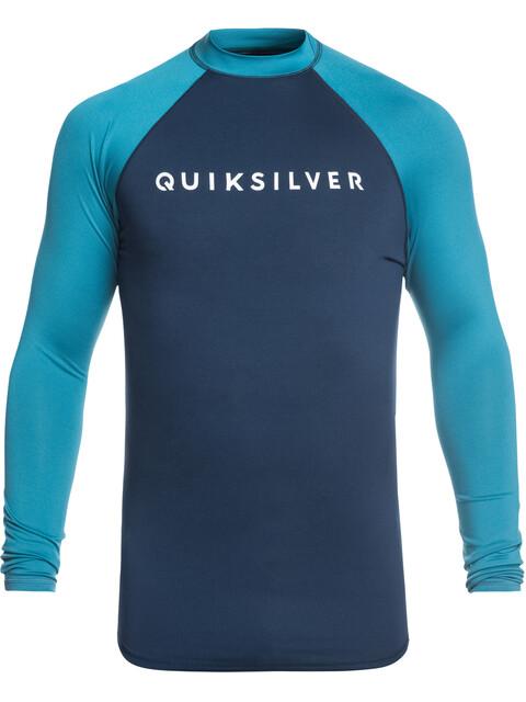 Quiksilver Always There - Camiseta de manga larga Hombre - azul/Turquesa